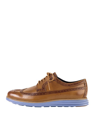 Lunargrand Long Wing-Tip Shoe, Light Brown