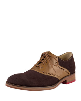 Colton Saddle Oxford Shoe, Brown
