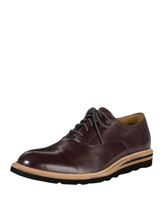 Christy Plain Wedge Oxford Shoe, Chestnut