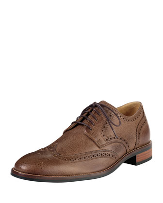 Lenox Hill Casual Wing-Tip Oxford, Brown
