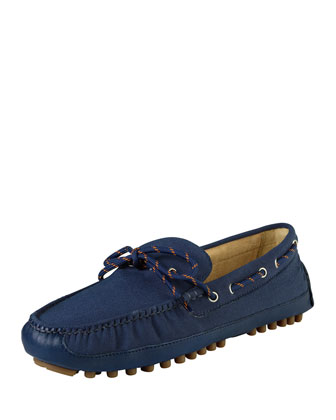 Men's Grant Canvas Moccasin, Blue