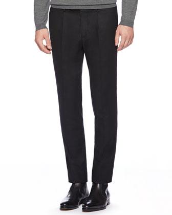 Stretch Flannel 60s Sport Pants, Black