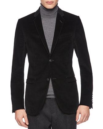 Corduroy Dylan 60s Jacket, Black