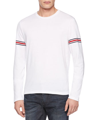 Jersey Web Long-Sleeve Tee, White