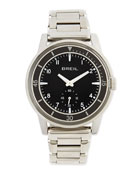 Orchestra Black-Dial Stainless Steel Bracelet Watch
