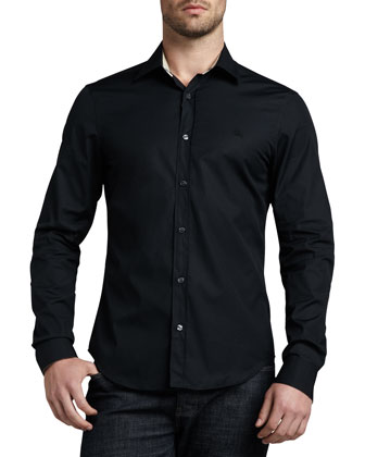 Check-Trim Button-Down Shirt