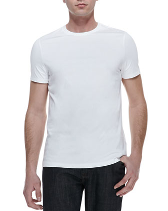 Basic Short-Sleeve Tee, White