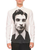 Poet-print Long-Sleeve Shirt