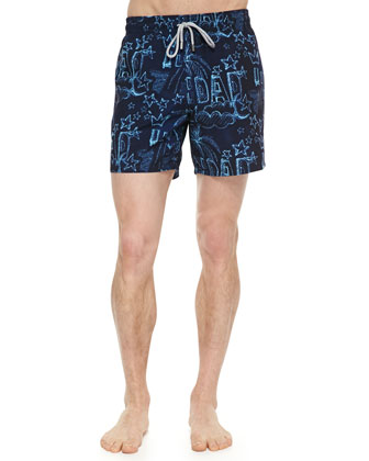 'I Love You, Dad' Moorea Swim Trunks
