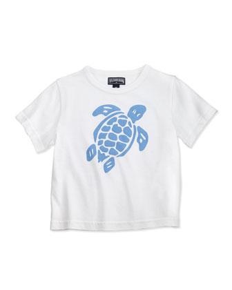 Turtle-Print Short-Sleeve Tee, Boys' 2-6