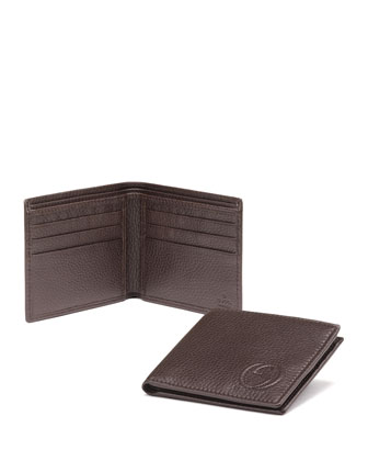 Soho Leather Bi-Fold Wallet, Brown