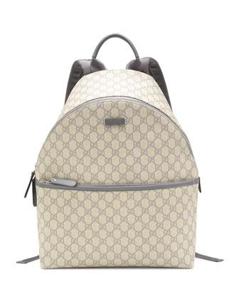 GG Supreme Canvas Backpack, Gray