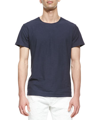 Reversible Slub T-Shirt, Navy/Blue