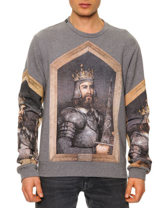 Long-Sleeve King Federico Print Sweatshirt