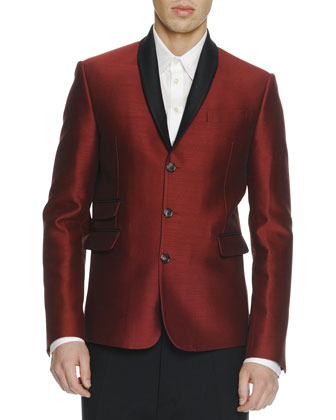 Shawl-Collar Evening Jacket