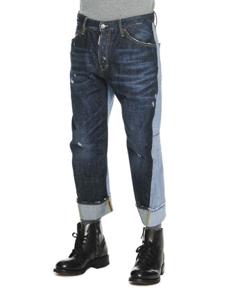 Two-Tone Workwear Jeans
