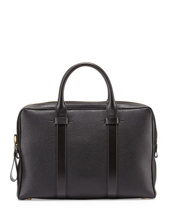 Buckley Leather Briefcase, Black