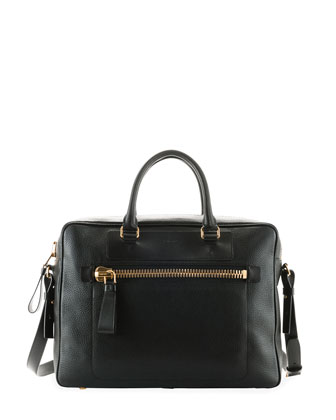 Buckley Side-Zip Briefcase, Black
