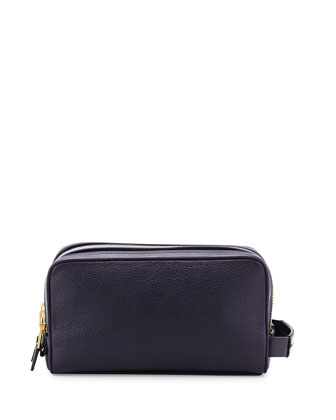Double-Zip Toiletry Bag, Purple