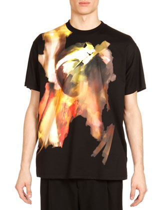 Columbia Abstract-Print Tee, Black