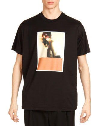 Columbia Abstract Face-Print Tee, Black Multi