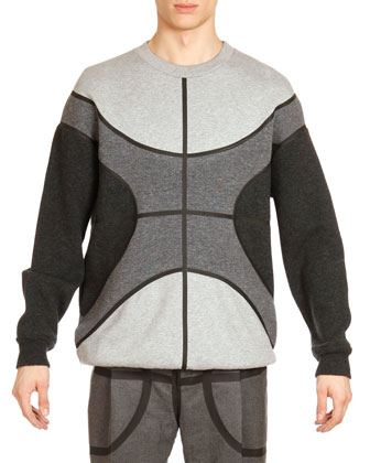 Basketball Wool Sweatshirt, Gray Multi