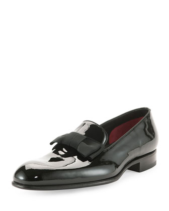 Charles Patent Leather Loafer, Black
