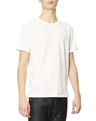 Short-Sleeve T-Shirt with Rockstud, White