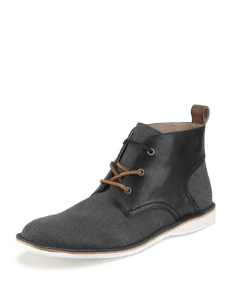 Dorchester Canvas & Leather Saddle Chukka Boot