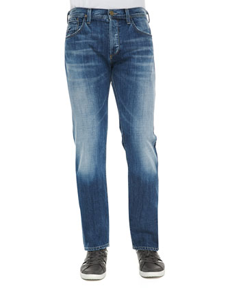Core Nathan Light Wash Jeans, Blue