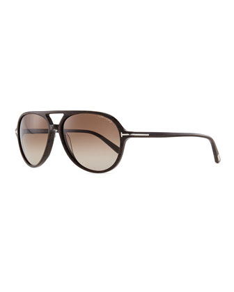 Jared Acetate Aviator Sunglasses, Brown