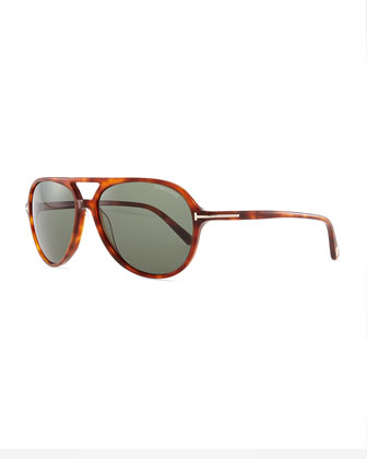 Jared Acetate Sunglasses, Light Brown