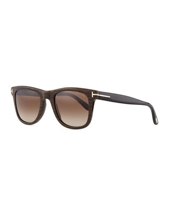 Leo Acetate Sunglasses, Brown