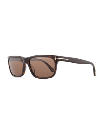 Hugh Acetate Sunglasses, Brown