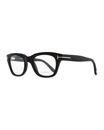 Large Acetate Fashion Glasses, Black
