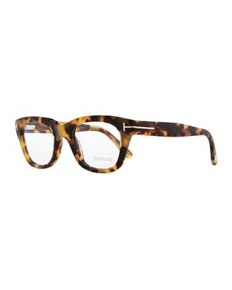Large Acetate Fashion Glasses, Dark Brown