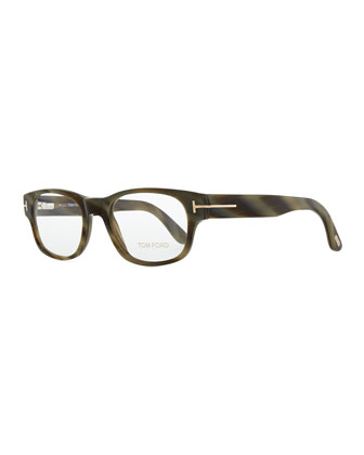 Hollywood Fashion Glasses with Clip-On Shades, Green
