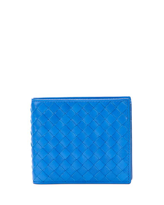 Basic Woven Wallet, Electric Blue