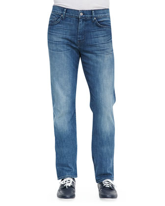 Slimmy Faded Relaxed Fit Jeans, Nakkita Blue