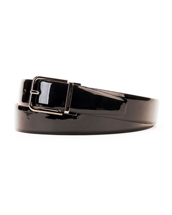 Men's Patent Leather Belt