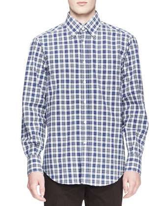 Madras Check Poplin Shirt