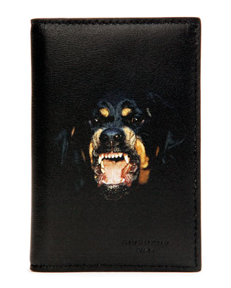 Rottweiler Nylon Card Case, Black