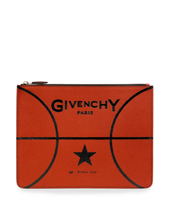 Basketball Leather Pouch, Brown