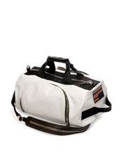 Leather Backpack/Duffle Bag, White