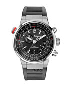 F-80 Stainless Steel Chronograph Watch, Black