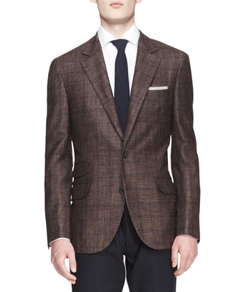 Two-Button Check Jacket