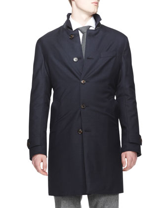 Reversible Car Coat, Navy/Navy