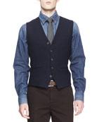 Wool/Silk 5-Button Waistcoat