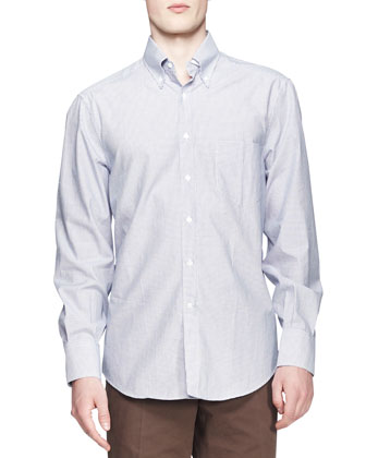 Small-Windowpane-Check Shirt