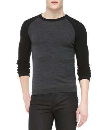Halewood Wool-Silk Raglan Sweater